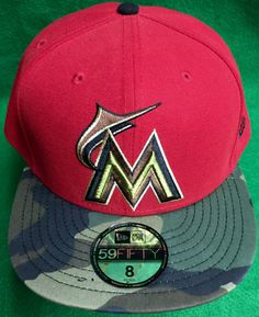 Miami Marlins New Era Fitted Cap Size 8 (63.5 cm) (RFA7) by CoryCranksOutHats on Etsy