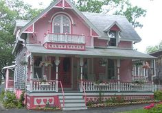 Pink houses are cute