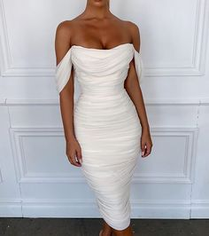 Bandage Mesh Dress Women 2019 Summer Off Shoulder Midi Bodycon Dress Slash Neck Sweetheart Backelss Sexy Party Gowns Vestido Elegant Dresses, Pretty Dresses, Beautiful Dresses, Elegant Gown, Slep Dress, Prom Dresses, Formal Dresses, Wedding Dresses, Sexy Dresses