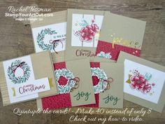 Card Making Inspiration, Making Ideas, Holiday Greeting Cards, Christmas Cards, Box Noel, Stampin Up Paper Pumpkin, Card Making Templates, Pumpkin Cards, Stampin Up Christmas
