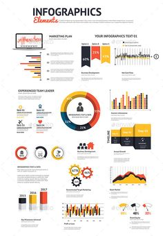 Big Set of Infographic Pie Chart Elements  Template • Only available here ➝ http://graphicriver.net/item/big-set-of-infographic-elements/9170514?ref=pxcr