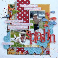 water games, scrapbook layouts, water fun, boy rule, scrapbook kit, rule scrapbook, boys scrapbook, kids bath, scrapbooking layouts boy