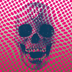 Op Art Skull by Ken Surman (2012)