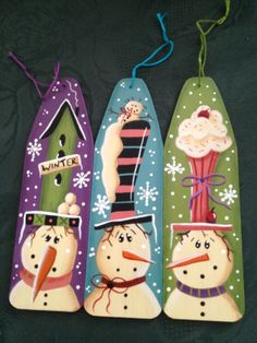 Christmas tree decorations painted by myself