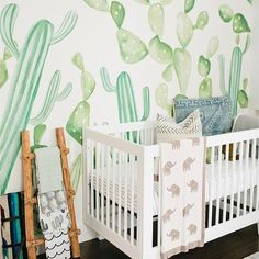 This California cacti nursery is setting standards high for the rooms we'll tour on Inspired by This this year! With it, comes desert plants, natural wood and neutral furniture, and a good dose of child-friendly toys and books. Nursery Themes, Nursery Room, Girl Nursery, Kids Bedroom, Baby Room, Nursery Decor, Kids Rooms, Nursery Ideas, Room Ideas