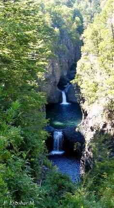 Parque Radal Las 7 Tazas, 7° Region, Chile.-