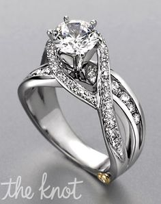One of the few wedding rings I actually like! But the middle diamond is a little too huge... haha