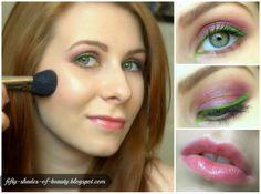 Summer Make Up with green eyeliner | http://fifty-shades-of-beauty.blogspot.com/2014/05/makijaz-z-zielonym-eyelinerem-green.html
