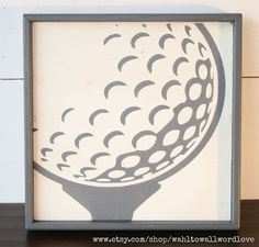 Golf sign vintage style golf ball sign by WahlToWallWordLove