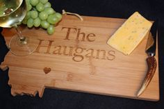 Montana State Shaped Cutting Board Personalized by AestheticWood