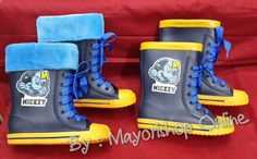 READY STOCK KIDS RAIN BOOTS KODE : NRB-05 Blue Mickey Size 27,28,29 PRICE : Rp.200.000,- AVAILABLE SIZE (insole) : - 27 (17cm) - 28 (18cm) - 29 (19cm) - 30 (20cm) -- SOLD - 31 (21cm) -- SOLD MATERIAL : Rubber/Karet lentur, Lapisan bulu bisa dilepas pasang.  FOR ORDER : SMS/Whatsapp 087777111986 PIN BB 766a6420  FB : Mayorishop  #pusatsepatuboots #sepatubootsanak #bootsimport #bootshujan #rainboots #kidsrainboots #bootsanak #sepatukaret #sepatuimport #sepatuanak #mickeyboots #blueboots #sepatumickey #bootshujan #bootskaret #mayorishoponline #bogor Kids Rain Boots, Blue Boots, Happy Shopping, Kids Fashion, Cute, Collection, Shoes, Zapatos, Shoes Outlet