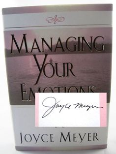 Joyce Meyer Managing Your Emotions SIGNED AUTOGRAPHED Book.  Available at BooksBySam.com!