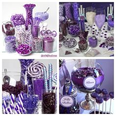 Purple candy buffet A must have
