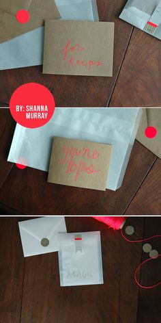 Kraft & Neon Cards by Shannon Murray