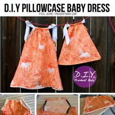 DIY Toddler Dresses | Make cute baby dresses from old pillowcases with the PATTERN & DIY ...