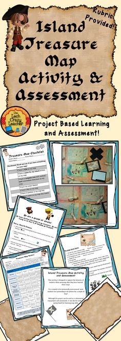 What could be more fun than creating your own island to hide your pirate treasure? This activity is designed to capture the interests of students while assessing what they have learned about maps. It is created to be intrinsically motivational; most students love pretending to be pirates for a couple of days! Although the project can be used as a culminating map project and assessment, it can also be used as a spring board for learning map skills. $