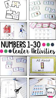 Eight activities for practicing counting. Perfect for kindergarten or preschool!