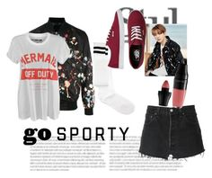 """""""spring day"""" by cruzfloramaejoy on Polyvore featuring Philipp Plein, Katie Price, RE/DONE, ASOS, Vans and Lancôme"""