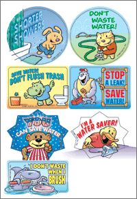 water conservation stickers for kids | Informative Stickers Kids Will Love: Educational Materials from ...
