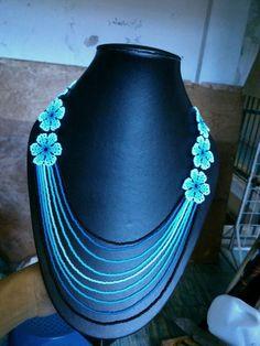 flores azules largo
