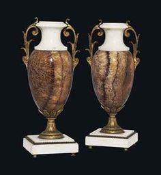 A pair of Blue John Vases