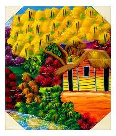 Quadro raffigurante un meraviglioso albero tropicale dai colori rosso-arancio e molto raramente giallo: il FLAMBOYAN. Tecnica acrilico su tela. Già montato su telaio in legno. Dimensioni 50 x 60 (approssimaz. 1-2 cm)  http://www.solohechoamano.it/store/quadri/quadri-caraibi-rep-dominicana-haiti/quadro-flamboyan.html