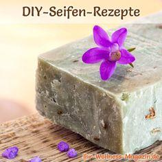 Entdecken Sie DIY Seifen Rezepte und Anleitungen, mit denen Sie Seife selbst herstellen können, wie z.B. Seifen-Rezepte für Rosenseife, Duftseife, Lavendelseife, Olivenölseife ...