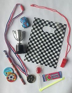 Racing car / Go Kart (Boys / Girls) pre-filled party bags - ** pick your qty ** Hot Wheels Birthday, Race Car Birthday, Race Car Party, Cars Birthday Parties, 4th Birthday, Go Kart Party, Karts, Party Bags, Childrens Party