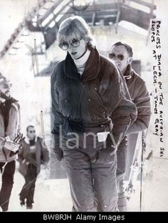 January 12,  1983:  Princess Diana in Lech Austria while staying in nearby Vaduz with the Lichtenstien royals