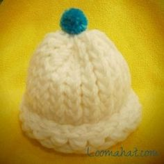 Loom knit a preemie hat This hat using double strand baby yarn. also length chart included for various size baby hats!