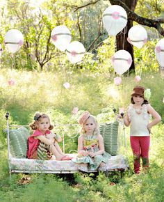 Hot Air Balloon Photo Props, Ideas Parties, Matilda Jane Families Pictures, Children Photography, Minis Photography Session, Girls Parties, ...