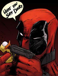Deadpool vs. Ducky by ChadXilla on DeviantArt