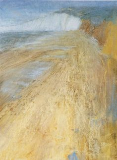 Sarah Bee 'Compton Bay - Tide Out', acrylic and pastel, 57x21cm