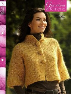 I love the shape of this knitted cardigan.  It won't be difficult to work it up in crochet.