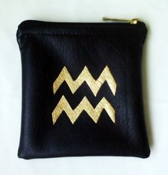 CORALSandNUTS   HANDMADE APPLIQUE ZODIAC LEATHER CLUTCH, PURSE, MAKE UP BAG   Online Store Powered by Storenvy