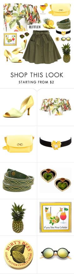 """She Is Not Into Yoga & She Has More Than Half A Brain"" by sharee64 ❤ liked on Polyvore featuring Franco Sarto, Isolda, Salvatore Ferragamo, Kenneth Jay Lane, Frye, TIKI and Burt's Bees"