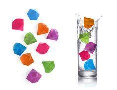 Cubitos de hielo con forma de diamante, de Kikkerland en @2150idees