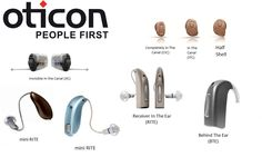 Styles of Oticon hearing aids- there is one for every fit