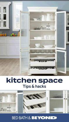 Home Decor Kitchen, Diy Kitchen, Kitchen Furniture, Diy Furniture, Diy Home Decor, Kitchen Tips, Storage Cabinets For Kitchen, Bookshelf In Kitchen, Corner Pantry Cabinet