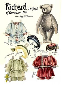 The Teddy Bear and Friends Paper Doll Fantasy