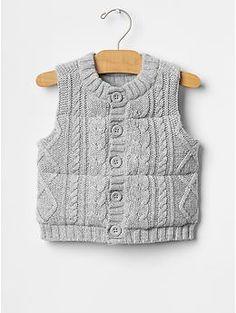 Cable knit sweater vest | Gap