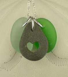 Sea Glass Jewelry Beach Stone With Heart by seaglassgems4you, $40.00