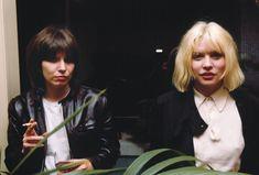chrissie hynde (the pretenders) and debbie harry (blondie), 1980 ~ photo chris stein (blondie)