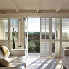 Patio Door Shutters - When you enter into a new house or build a new one you need to consider different kinds of things. Sliding Glass Door Shutters, Patio Door Shutters, Interior Shutters, Window Shutters, Blinds For Windows, Windows And Doors, White Shutters, Sliding Door, Balcony Door