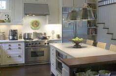 Gorgeous white and stainless kitchen