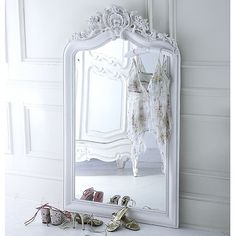 ❥ limited edition beautifully handcast plaster over mantlemirror~ omg, I want