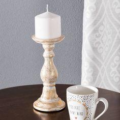 Świecznik Riva I, 10x10x22,5cm - Dekoria #Candlesticks #swieczki #swieczniki #home #dom #decoration #inspiration #livingroom #dekoracje #interior
