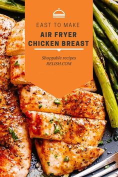 This Ari Fryer Chicken Breast is perfectly seasoned and incredibly juicy! diethood.com Dinner Bell, Air Fryer Recipes, Gluten Free Recipes, Chicken Wings, Chicken Recipes, Dinner Recipes, Breast, Keto, Cooking