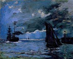 Seascape, Night Effect, 1866, Claude Monet