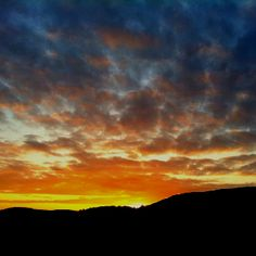 Sunset over the Cambrian Mountains. Photograph.
